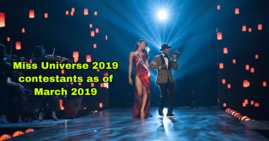Miss Universe 2019 delegates (March edition)